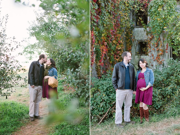 Maternity in apple orchard in Charlottesville by besa photography