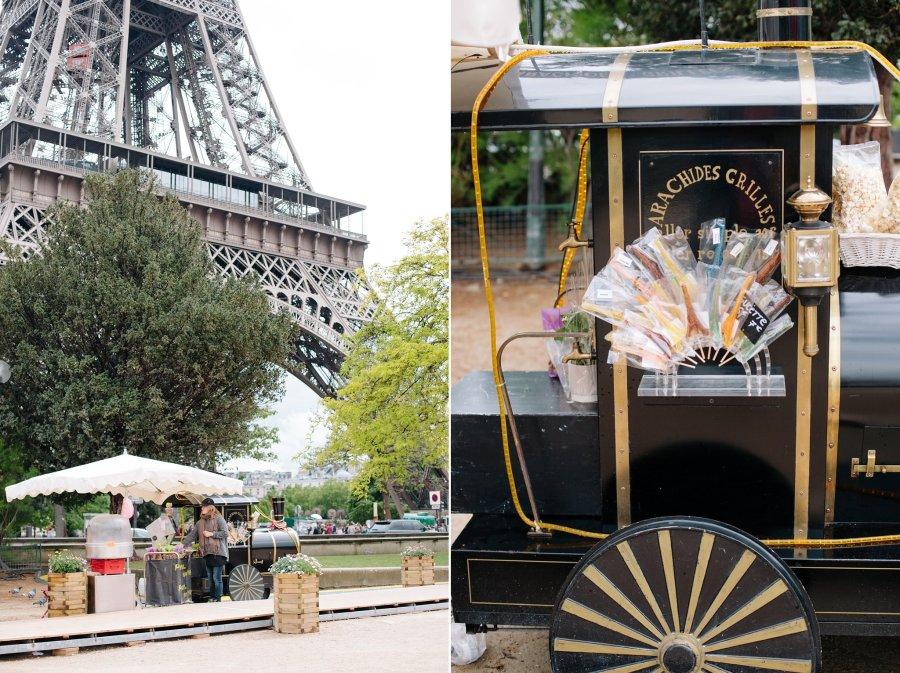 Market near the Eiffel Tower in Paris