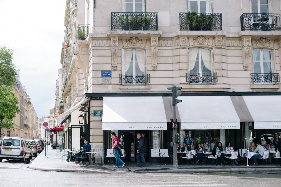 Cafe on Rue Fabert in Paris