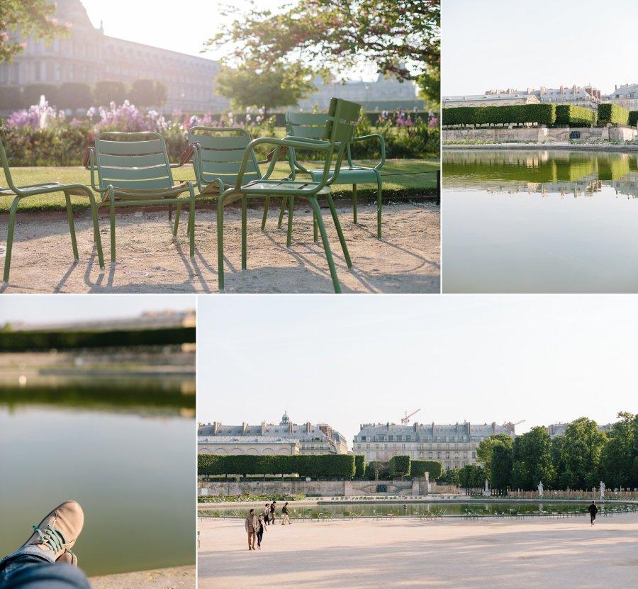 Jardin Tuileries in Paris in early morning