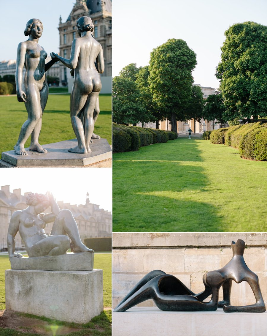 Sculptures in the Jardin des Tuileries in Paris.