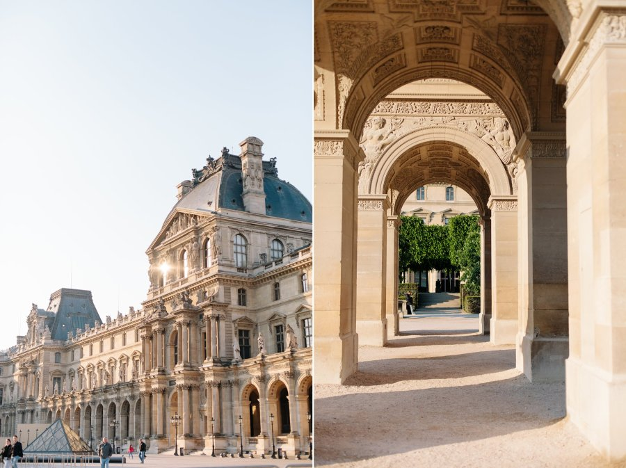 Beautiful architecture of the Louvre Museum in Paris.
