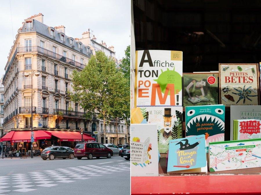 Book shop in Paris, France
