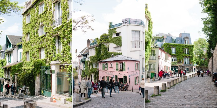 Near La Maison Rose in Montmartre, Paris