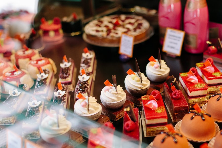 Beautiful French pastries in Paris