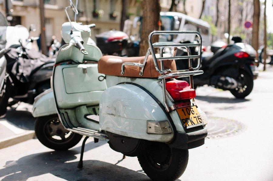 Motorbike in Montmartre in Paris