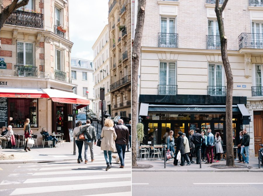 Cafes in Montmartre in Paris.