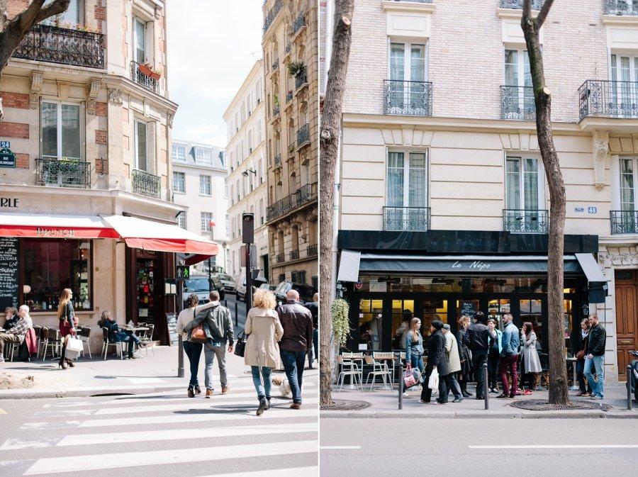 Cafes in Montmartre in Paris.
