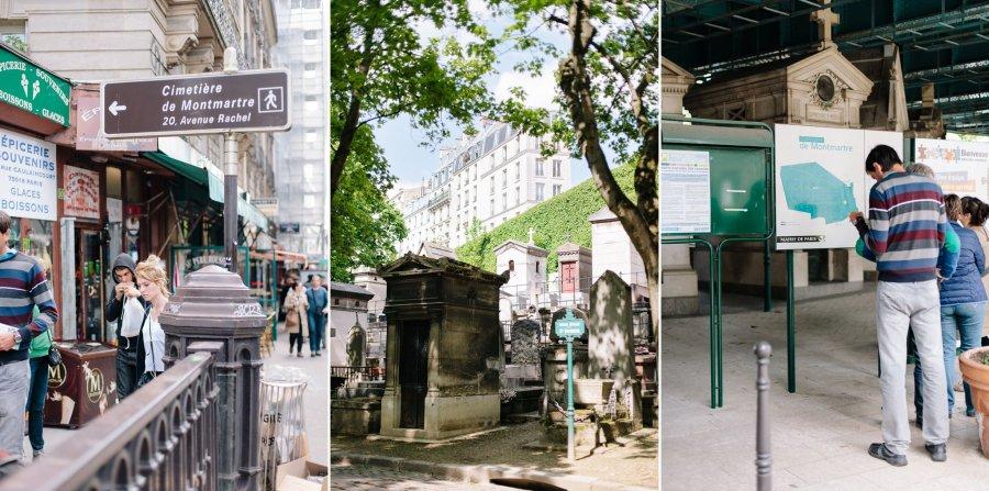 Cemetery (Cimetiere) de Montmartre in Paris