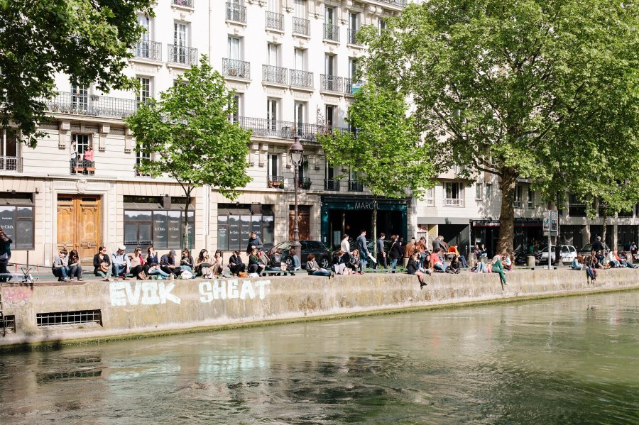 Banks of the Canal Saint-Martin in Paris
