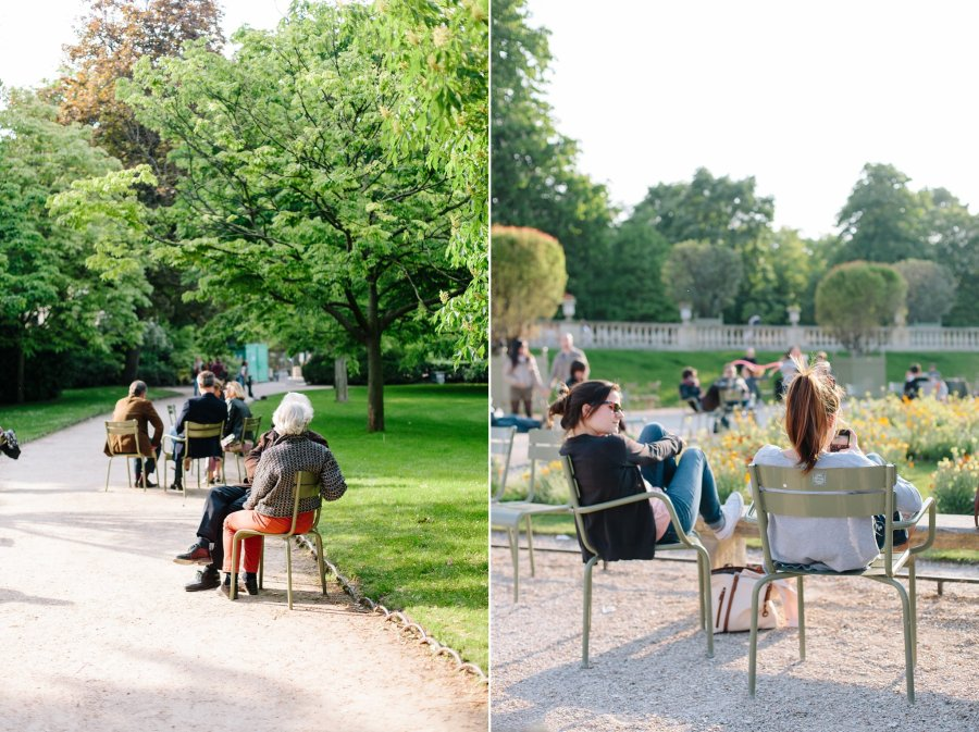 Luxembourg Gardens in Paris in the Spring