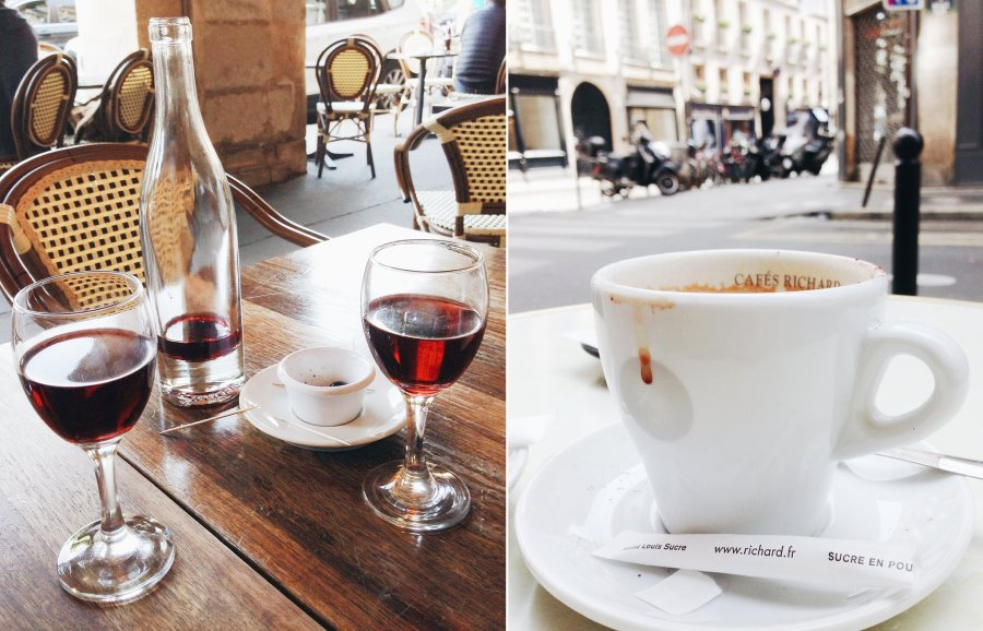 Outdoor cafes in Paris