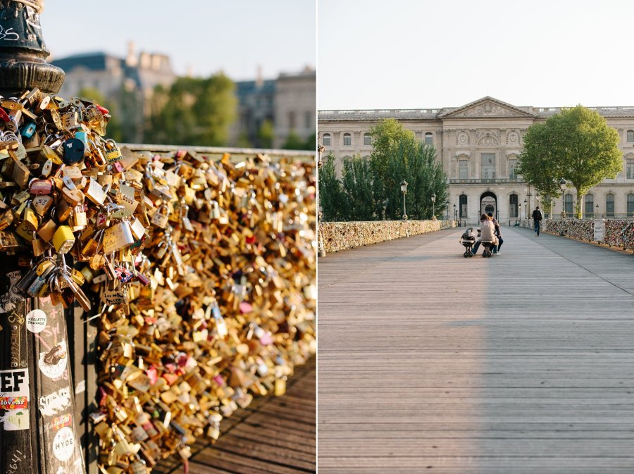 Pont des Arts in the early morning sunlight
