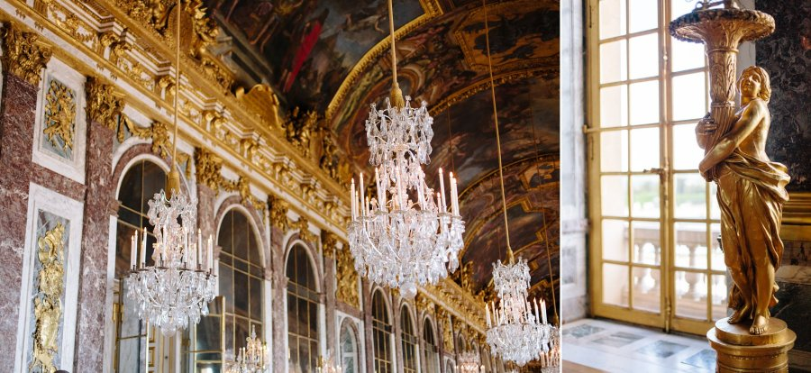 Hall of Mirrors in the Chateau de Versailles