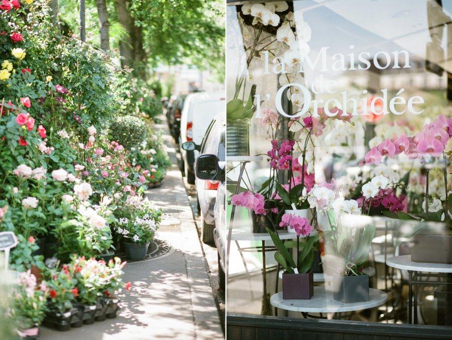 La maison de l'Orchidée on Isle St. Louis in Paris, Fuji 400H film
