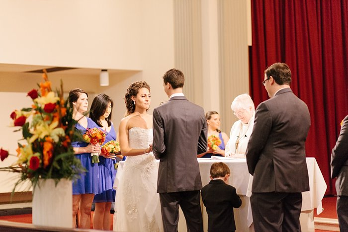 Memorial chapel wedding at University of Maryland